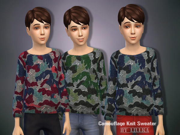Camouflage Knit Sweater by lillka