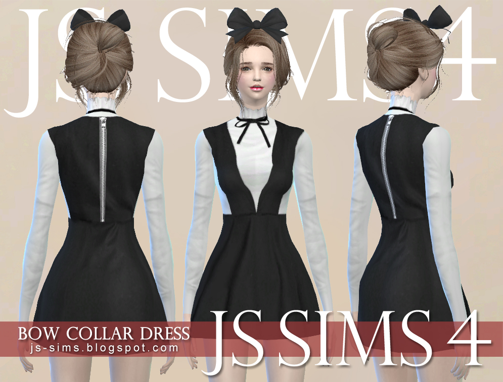 Bow Collar Dress by JS SIMS