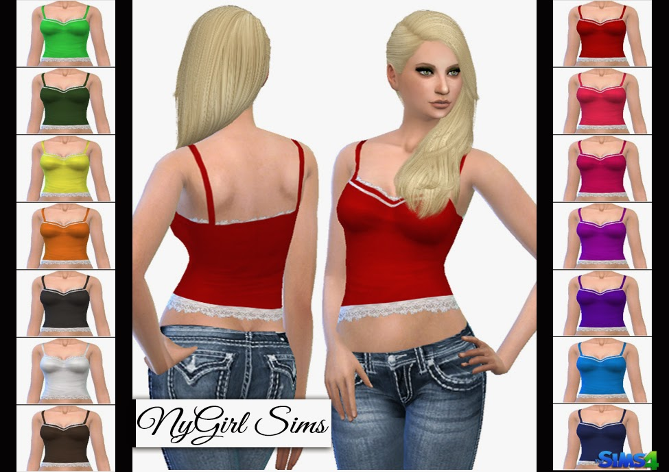 Lace Trim Tank by NyGirl