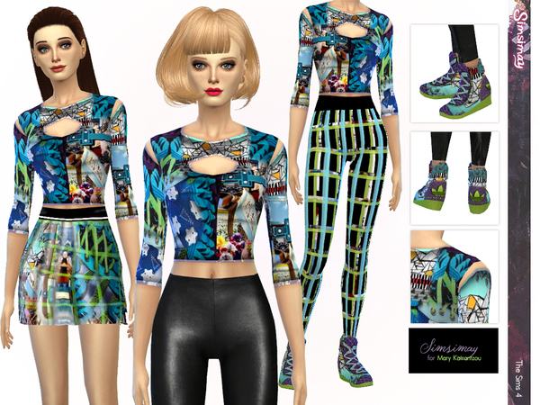 MartKat Digital Print Mix & Match Set by Simsimay