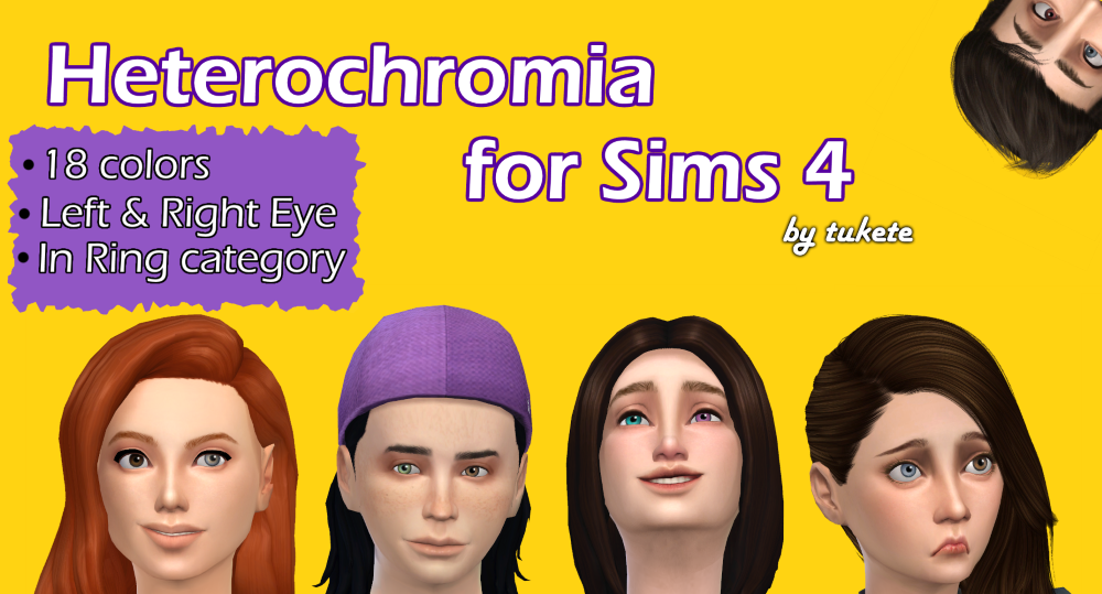Heterochromia Eyes for The Sims 4 by Tukete