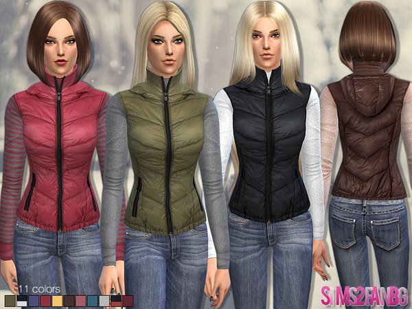 36 - Female Padded Waistcoat by sims2fanbg