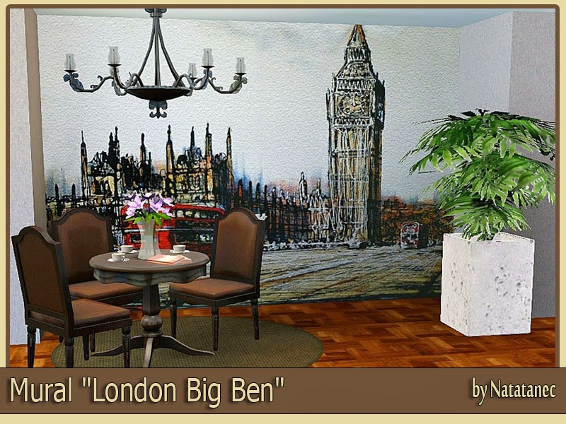 Mural London Big Ben by natatanec
