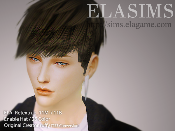 ELA Retexture Hair11M by Elasims