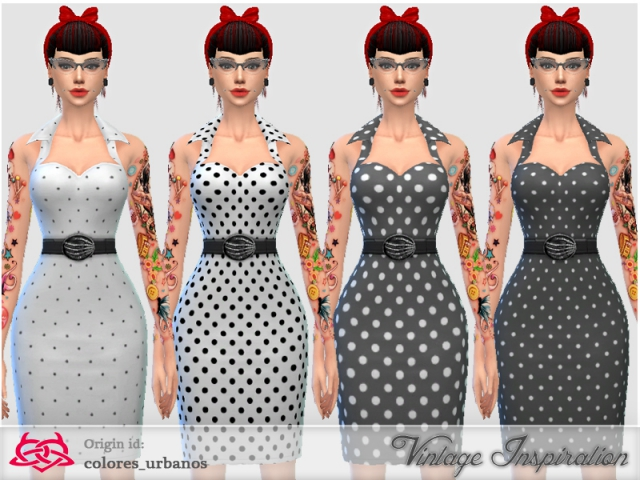 Recolor Pin Up dress lunares 1 by Colores Urbanos