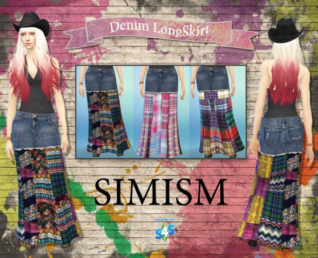 Denim-LongSkirt by Simism