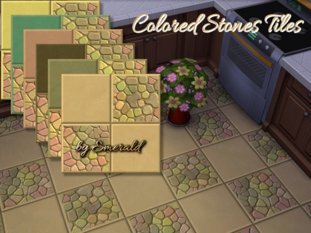 Colored Stones tiles by emerald