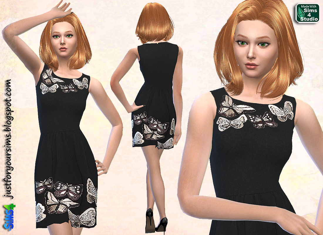 Butterfly Cocktail Dress at Just For Your Sims