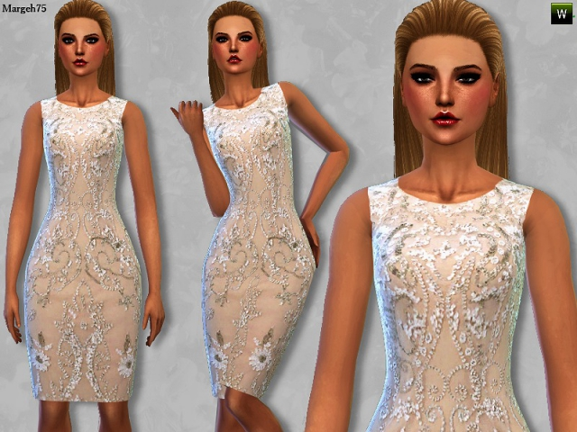 Beaded Cocktail Dress by Margeh-75