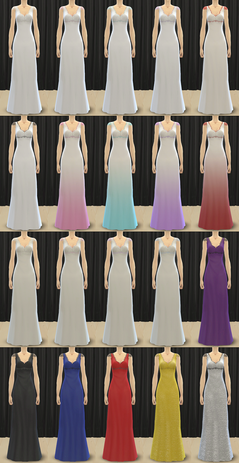 TS3 to TS4 - Queen of Lace Wedding Dress for Teen - Elder Females by Pickypikachu