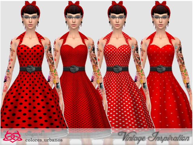 Recolor Rockabilly Dress4 lunares 1 by Colores Urbanos