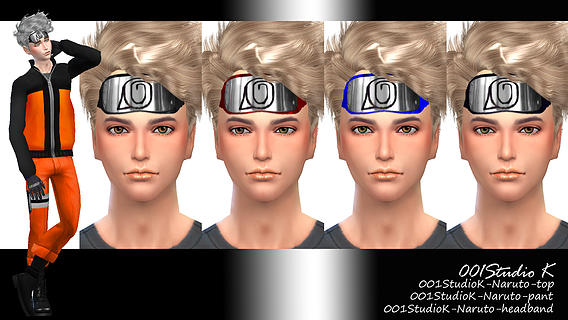 Naruto Clothing and Headband for Males