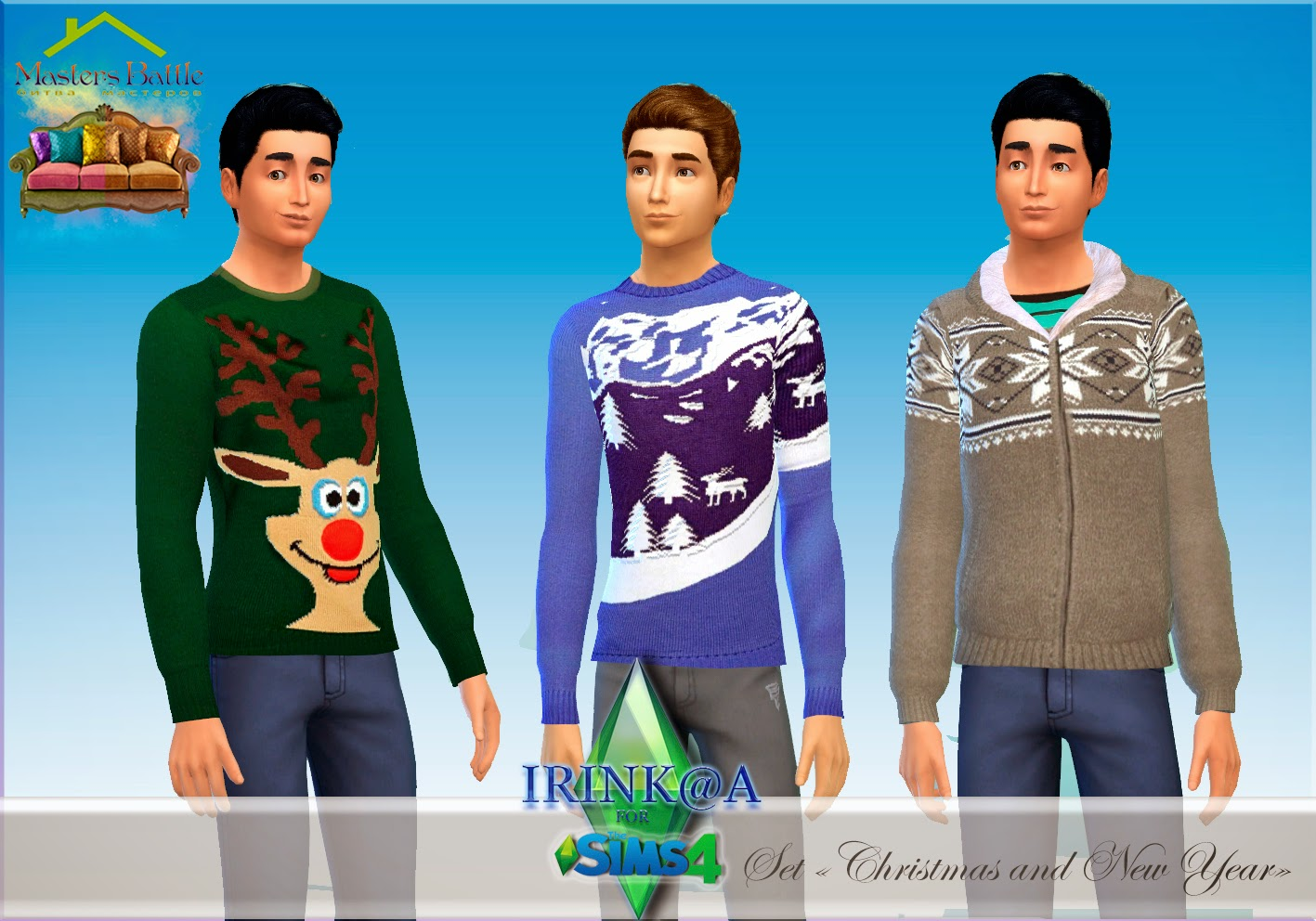 Christmas and New Year sweaters by Irink@a