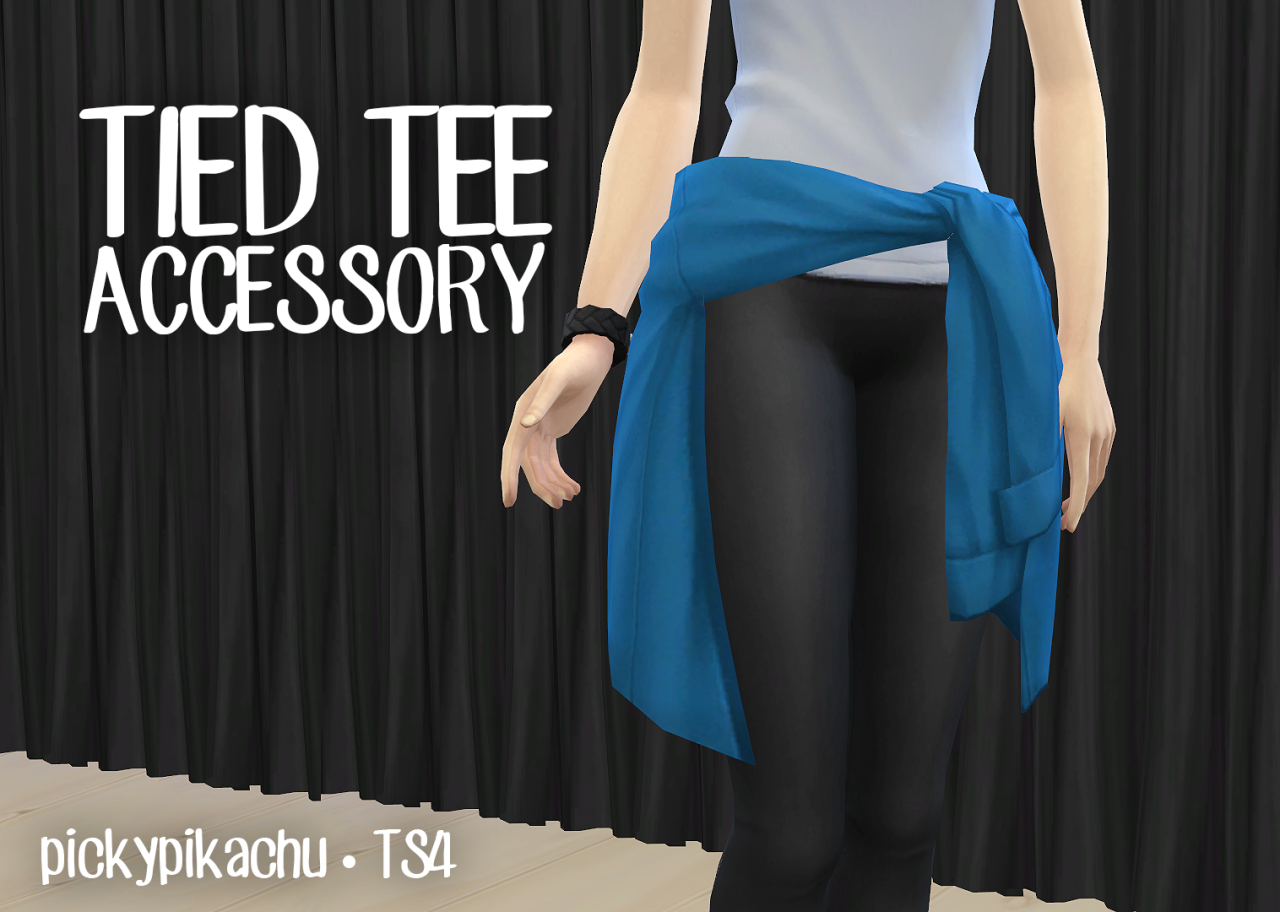 Tied tee accessory at Pickypikachu