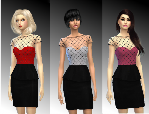 Dress with lace top oт UMANITA TS4
