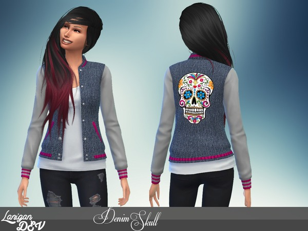 Denim Skull Jacket by LaniganDEV
