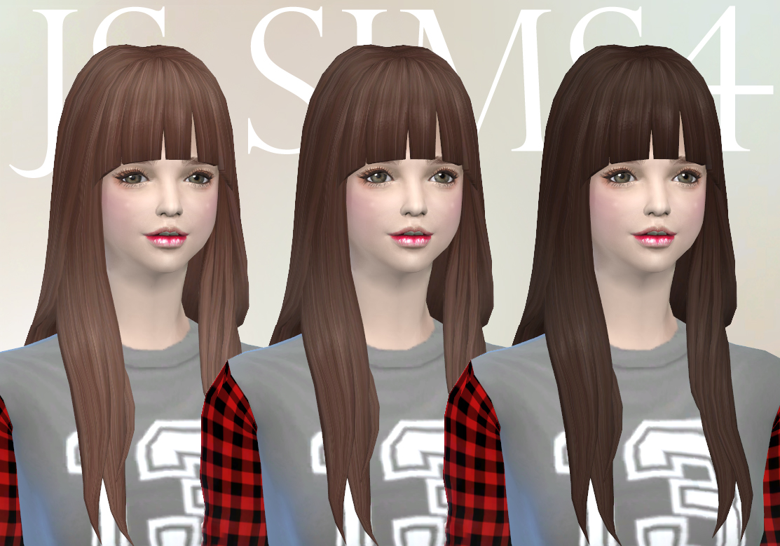 NotEgain Alicia Hair Retexture by JS SIms 4