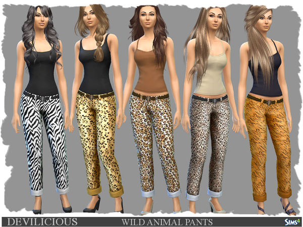 Wild Animal Pants by Devilicious