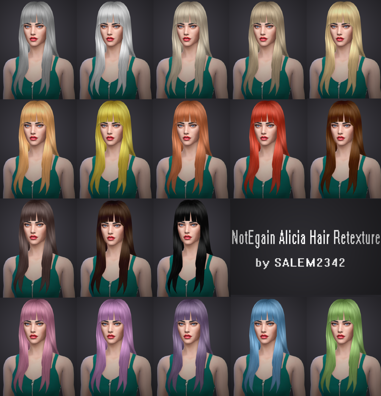NotEgain Alicia Hair Retexture by Salem2342