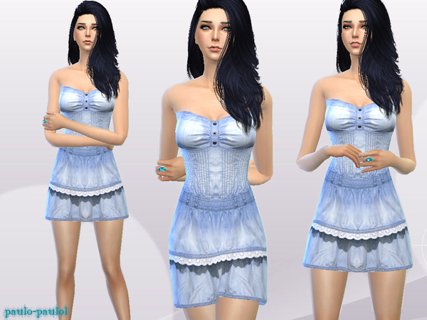 Denim short dress by paulo-paulol