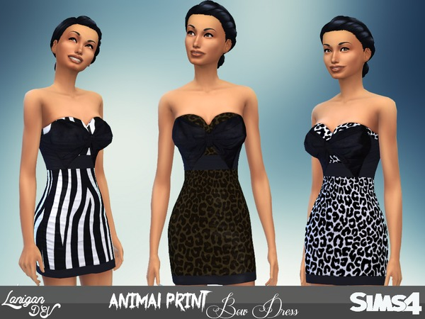 Stylish Animal Print Bow Dress by LaniganDEV