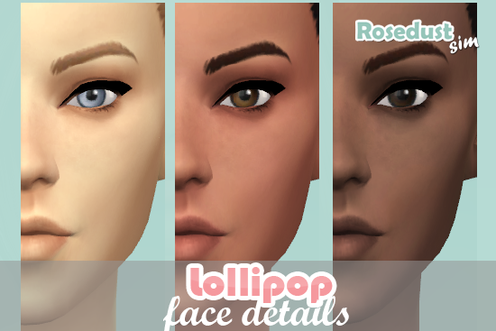 Lollipop Face Details for Males & Females by Rosedust