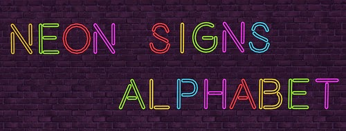 Alphabet Neon Signs by NotEgain