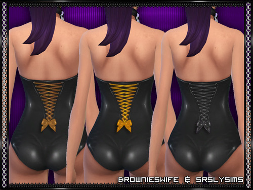 PVC Corset Swimsuit for Females