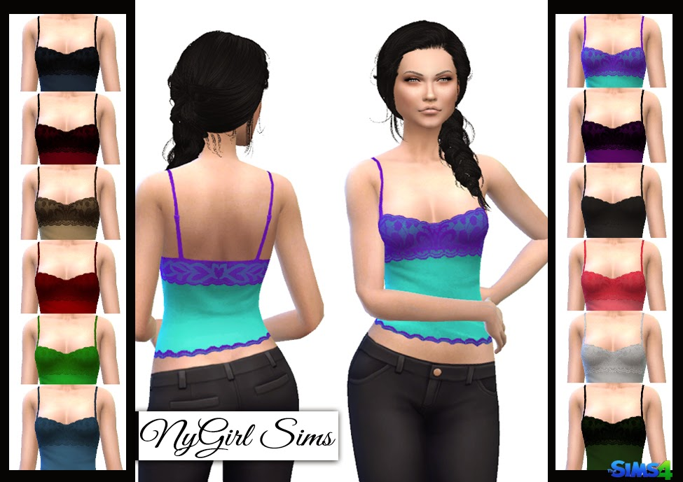 Lace Overlay Tank at NyGirl Sims