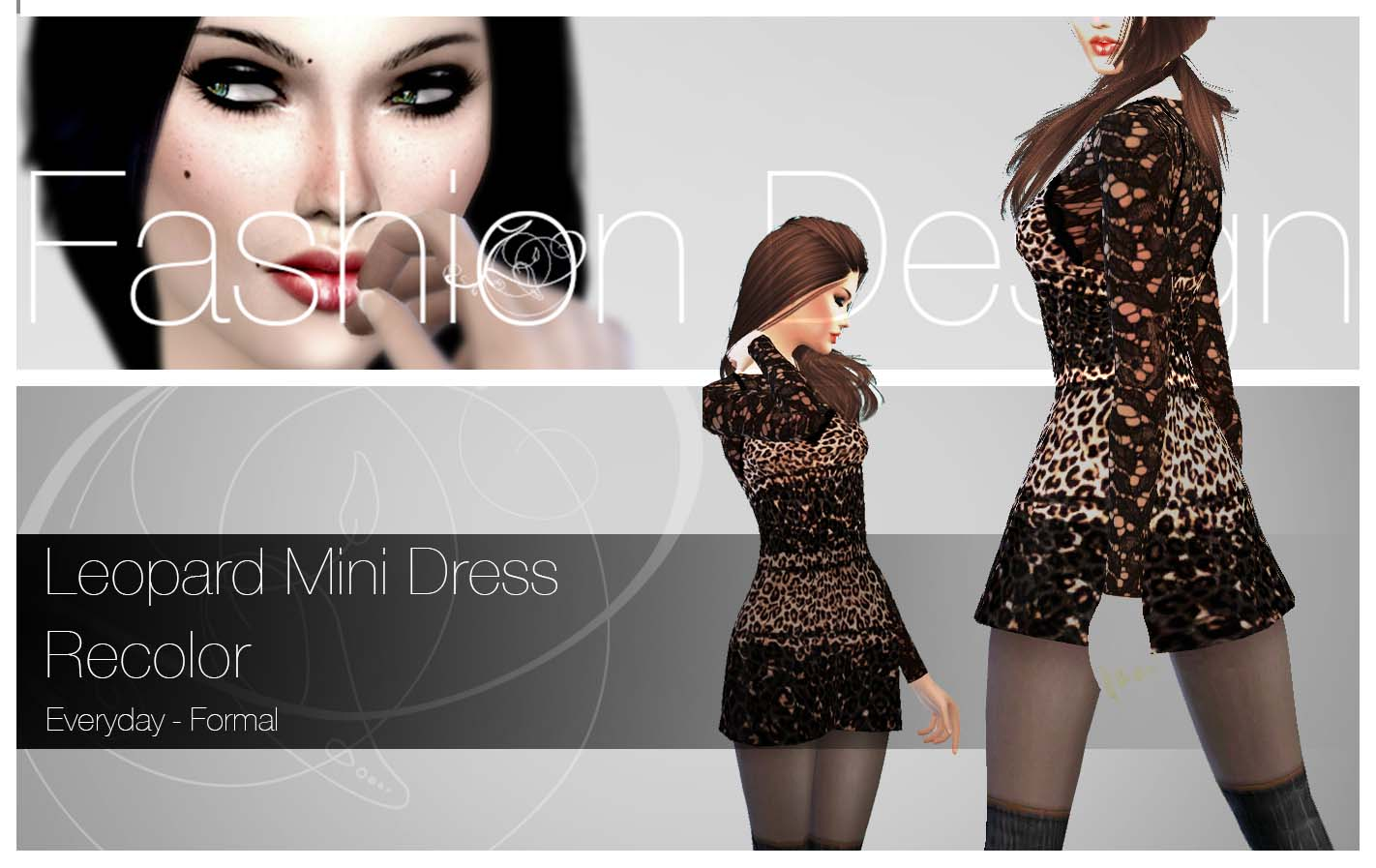 Recolor Leopard Dress by ZeneZis