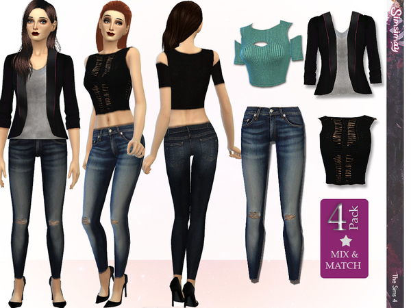 Street Fashion Mix & Match Set by Simsimay