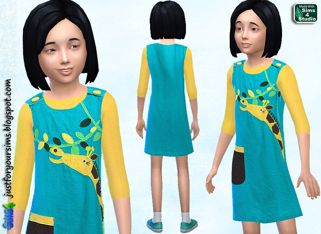 Dress with Giraffe at Just For Your Sims