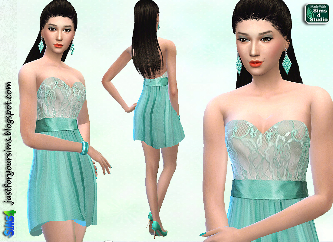 Mint Green Cocktaildress at Just For Your Sims