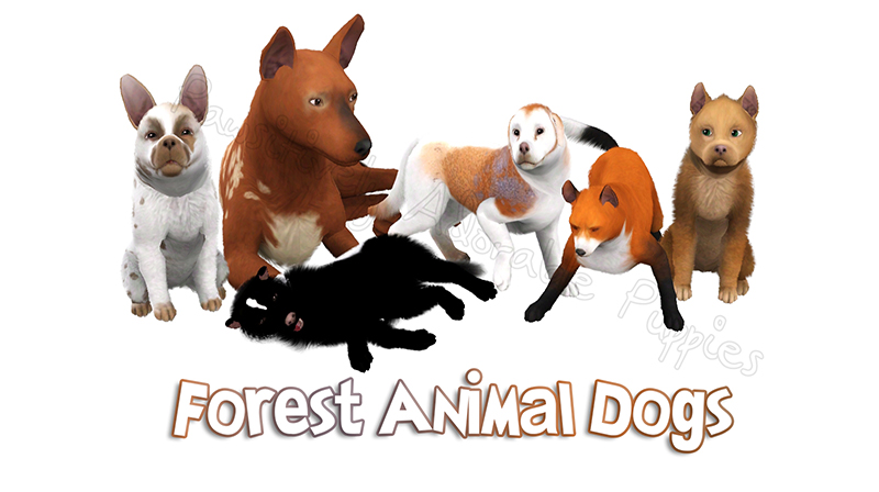 Dog Gift: Forest Animal Dogs by Catlover800