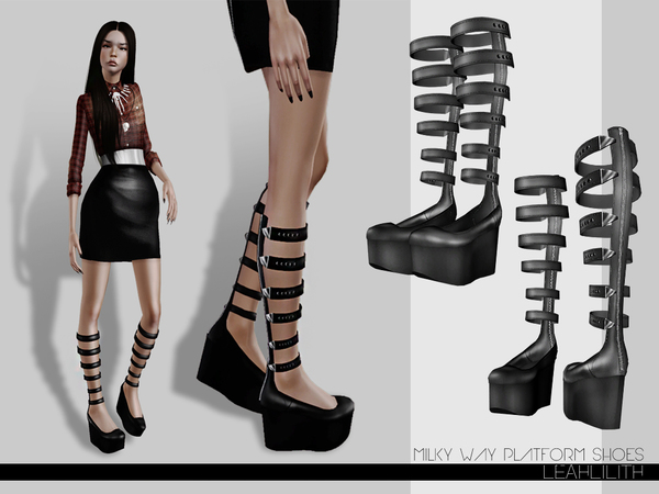 LeahLillith Millky Way Platform Shoes by Leah Lillith