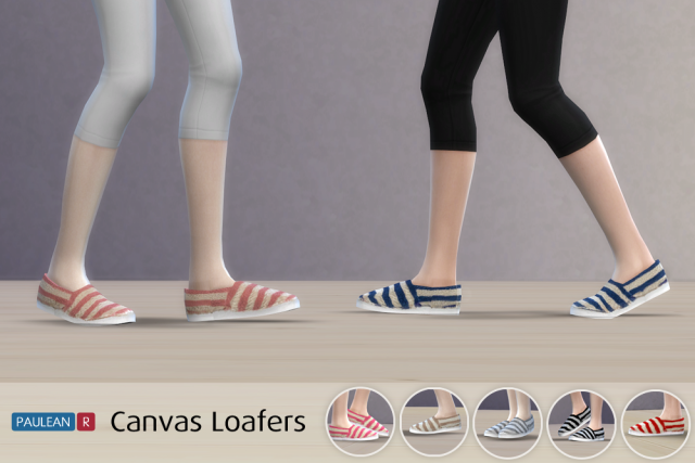 Canvas Loafers for Teen - Elder Females by PauleanR