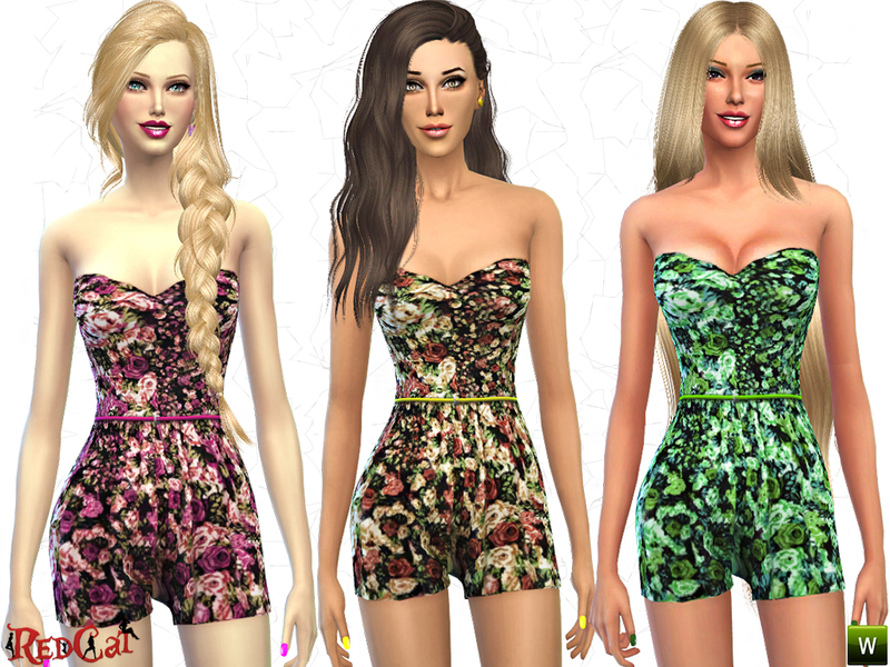 Flower Print Jumpsuit BY RedCat