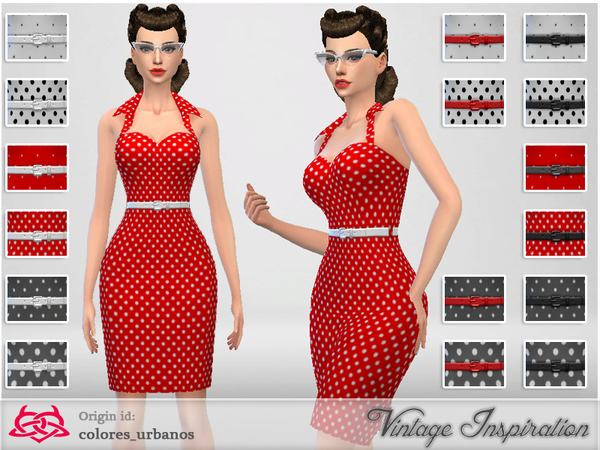 Recolor Pin Up dress lunares 2 by Colores Urbanos