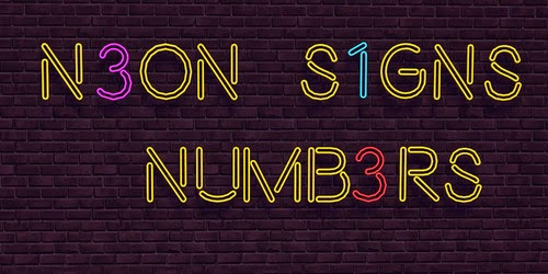 Neon Signs Numbers by NotEgain