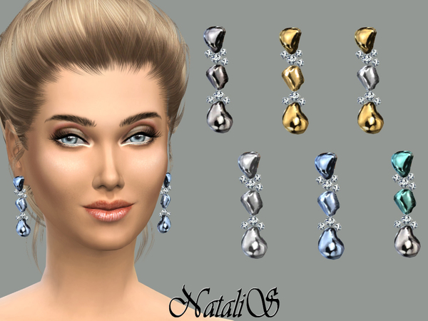 NataliS_Liqiud metal droplet earrings FA-FE
