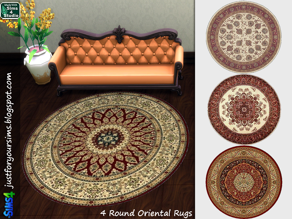 Round Oriental Rugs at Just For Your Sims