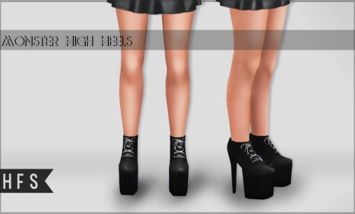 Monster High Heels by Hautfashionsims4