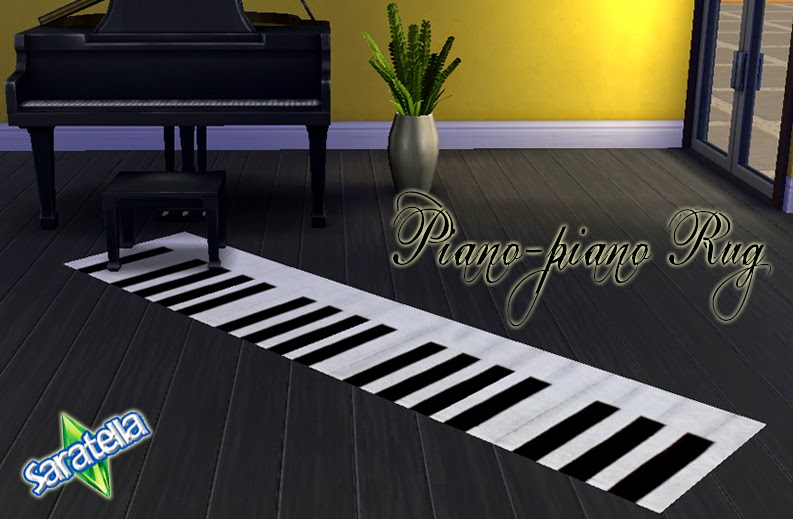 Piano Rug by Saratella