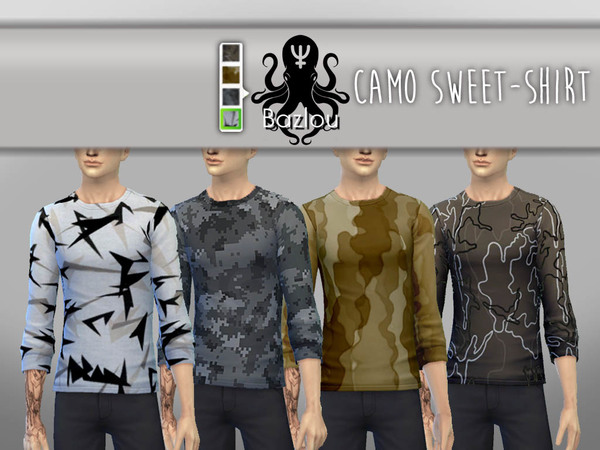 Camo Sweet-shirts by Bazlou