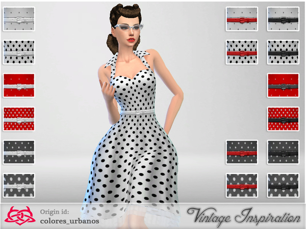 Recolor Rockabilly Dress4 lunares 2 by Colores Urbanos