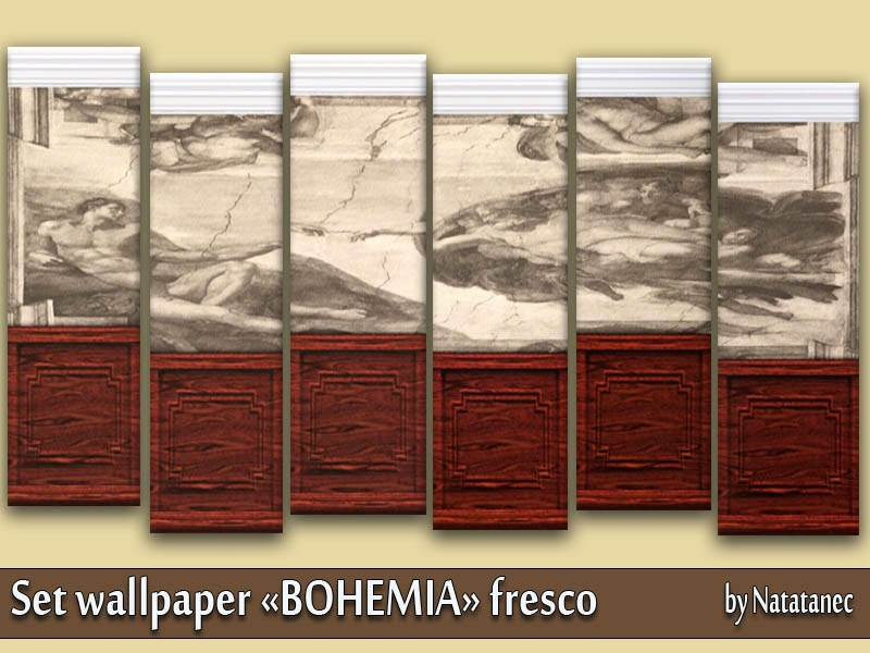 "Wall wallpaper ""BOHEMIA"" fresco by natatanec"