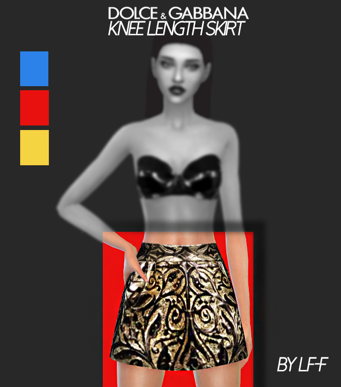 Knee Length Skirt at Lulufrosty-frog