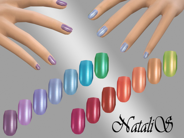 NataliS_Rainbow short nail recolor FT-FE