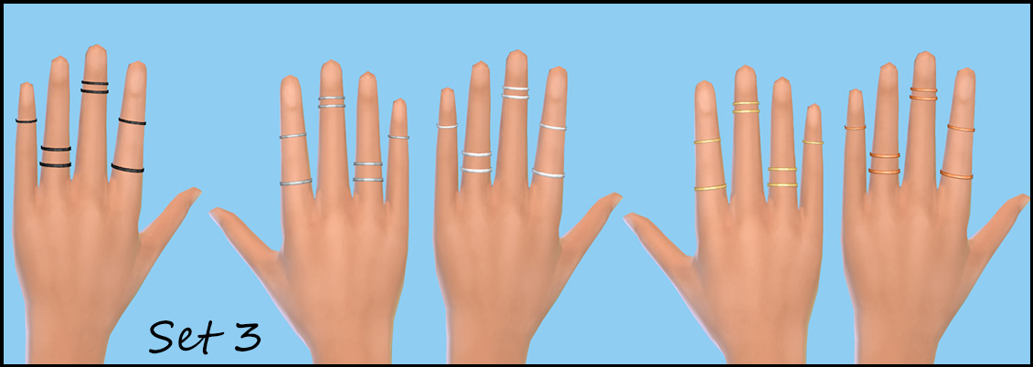 3 Sets of Stacked Rings for Females (T-E) by PearlStitches