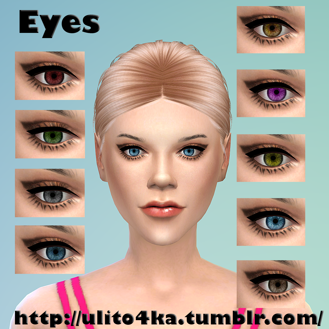 Non-default eyes 9 colors at Ulito4ka
